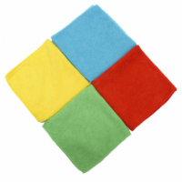 NAB MICROFIBRE CLOTH GREEN 40*40CM 10/PACK