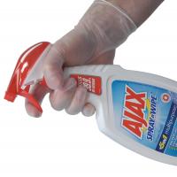VINYL CLEAR MEDIUM POWDER FREE GLOVES 100PAIR 10/CTN