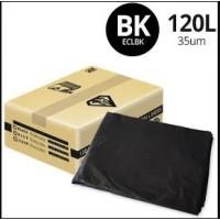 120LT HEAVY DUTY BLACK BIN LINER 100PC/CTN